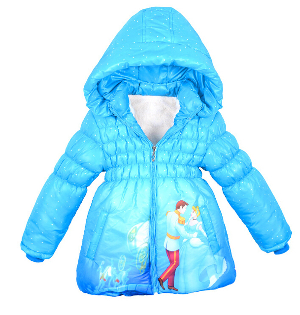Natal Meninas casaco Casaco de Cinderela para Crianças Inverno Quente Jacket & Outwear, Meninas Do Bebê Jaqueta de roupas de Moda, Meninas casaco