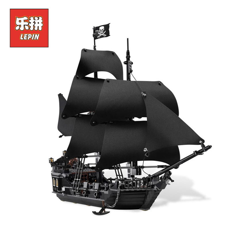 Lepin 16006 Pirates of the Caribbean the Black Pearl Boat Building Blocks compatible Legoings 4184 Pirates Ship Toy for Children 1 6 pirates of the caribbean angelica headsculpt for diy 12inch doll parts