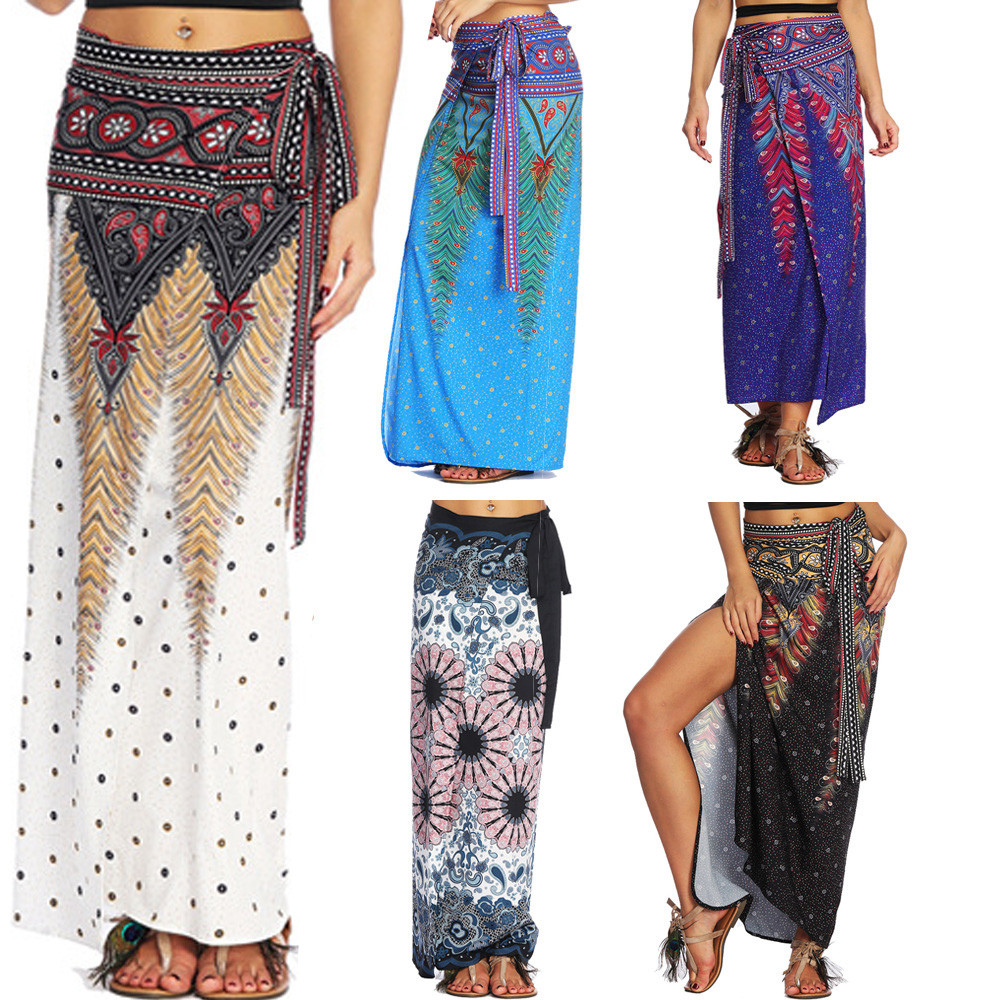Womail Women Skirt Summer Fashion  Loose Trousers Baggy Boho Aladdin Harem Skirt Casual Daily 2019 Dropship F9