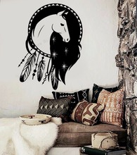 Art  Wall Sticker Horse Ethnic Decor Vinyl Removeable Modern Ornament Decal Dreamcatcher Poster Mural Talisman LY172