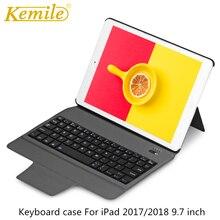 цена на Bluetooth Keyboard Case For iPad 2018 9.7 W Ultra Slim Stand Leather Cover For iPad 2017, Pro 9.7 Air 1/2 tablet Keypad klavye