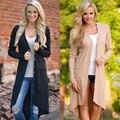 Женщины Дамы Кардиган Свободную Одежду С Длинным Рукавом Вязаный Кардиган Куртки И Пиджаки Пальто Одежда Осень
