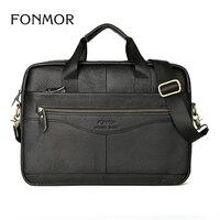 Men Leather Briefcase Laptop Bag Male Genuine Leather Bag Men Briefcase Handbags Multifunction Men S Travel