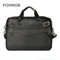 Men Leather Briefcase Laptop Bag Male Genuine Leather Bag Men Briefcase Handbags Multifunction Men S Travel