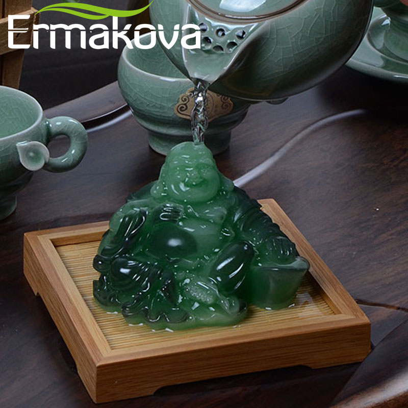 ERMAKOVA Resin Color-Changing Statue Chinese Buddha Figurine Feng Shui Lucky Tea Pet Toy Home Decoration Ornaments Gift