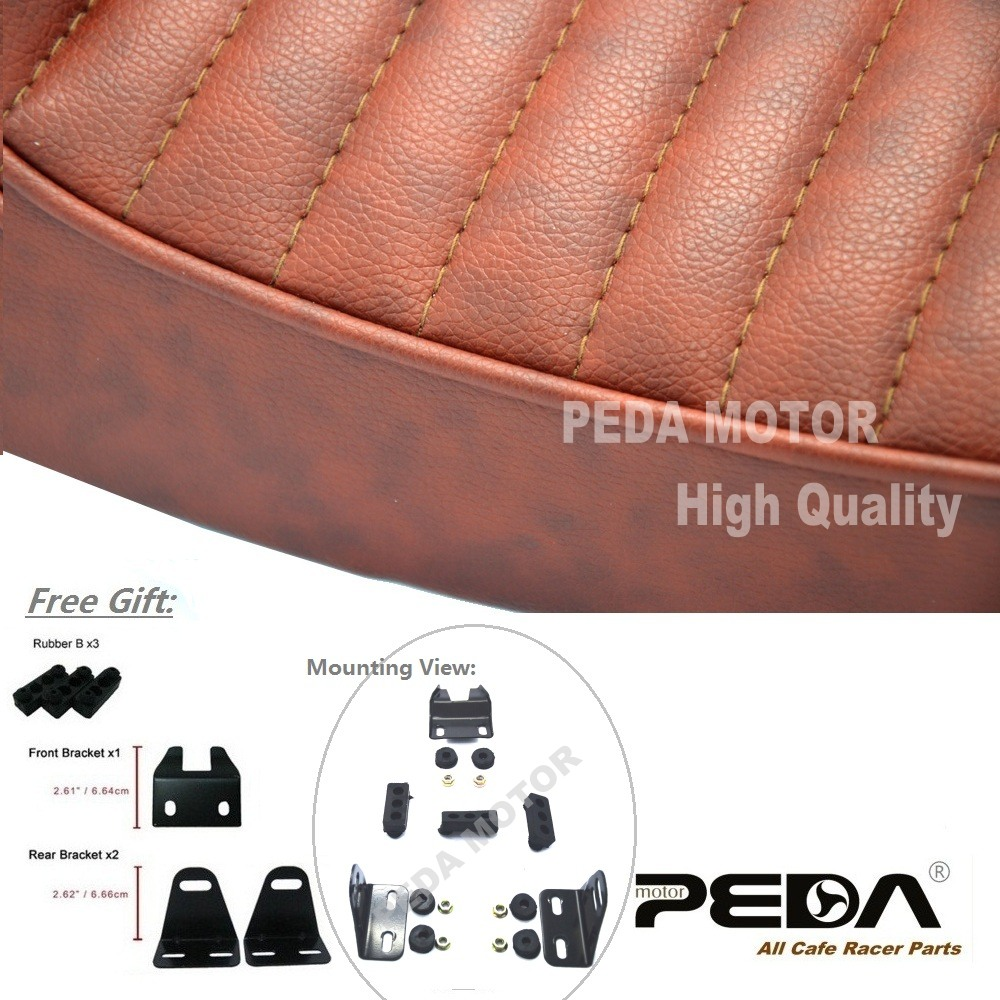 aliexpress : buy 2017 universal cafe racer seat brown hump