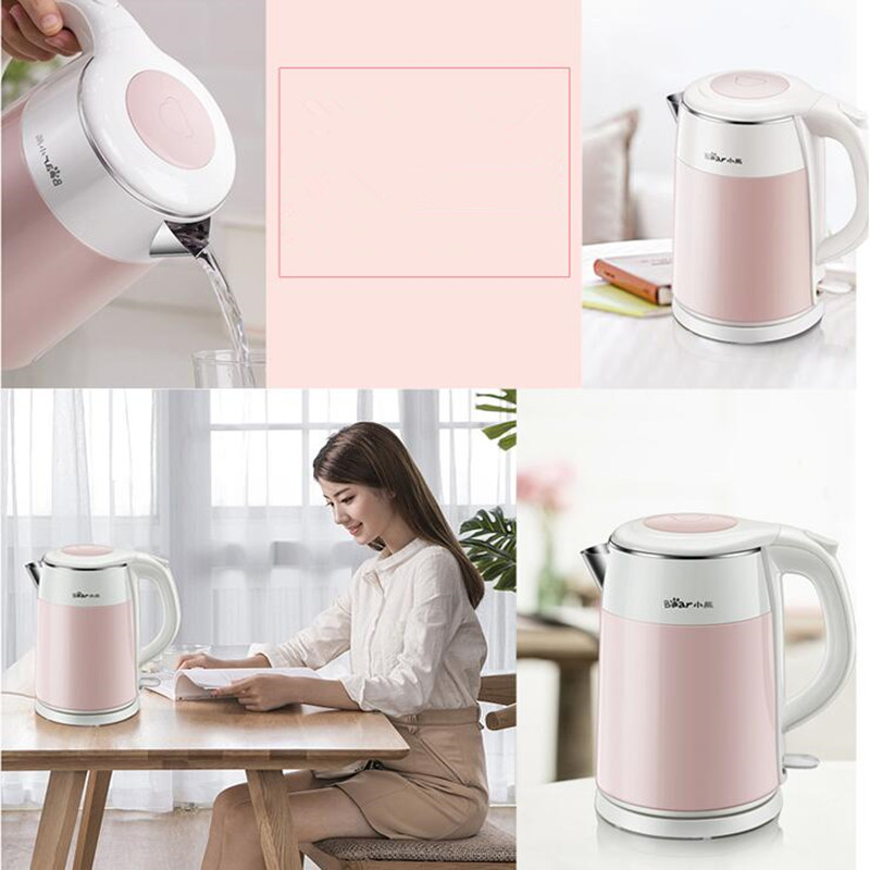 EU/AU/UK 220V Multifunctional Electric Boiling Kettle 1.5L Electric Household Kettles Anti-dry Burning Function multifunctional dry