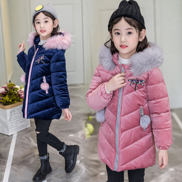 2dc7a61eb79a Cold Winter Baby Girls Warm Clothes 4 16year Infant Coat 2018 New ...