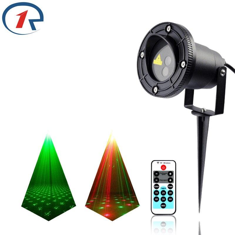 ZjRight IR Remote Sky firefly stars Red Green effect laser lights waterproof outdoor projection laser stage light dj disco light