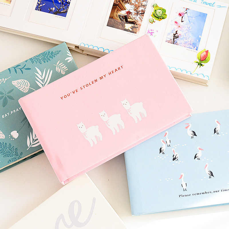 48 Pockets Interleaf High Capacity Cartoon Color Photo Album Wedding Kids Photo Album Cartoon Photo Album for 3 Inch Photos