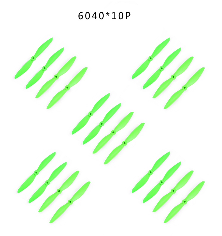 10pairs 6040 6*4 propeller Prop Blade Paddle CW/CCW for RC QAV250 280 Quadcopter Green