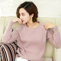 2017New Zocept High Quality Cashmere Sweater Women Winter Knitted Casual Thick Sweater Women O Neck Solid