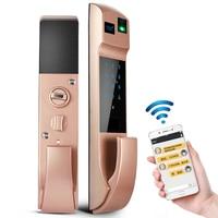 5 In 1 Smart Fingerprint Lock Digital Electronic Door Lock For Fingerprint Passwords Cards Key APP