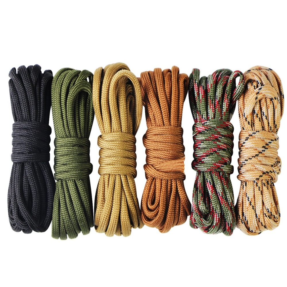 Paracord Bracelet Cord Self Protect Lifeline Parachute Rope Outdoor Survival Safe Rope Set DIY Hand Woven Hiking Accessories 3m