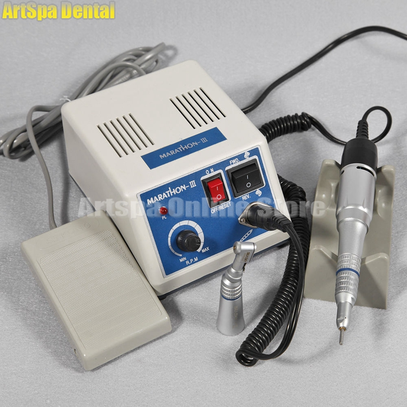 Dental lab MARATHON Handpiece 35K RPM Electric Micromotor polishing + contra angle straight nose dental lab equipment polisher micromotor hand piece contra angle and straight high speed 50 000rpm electric grinder brushless