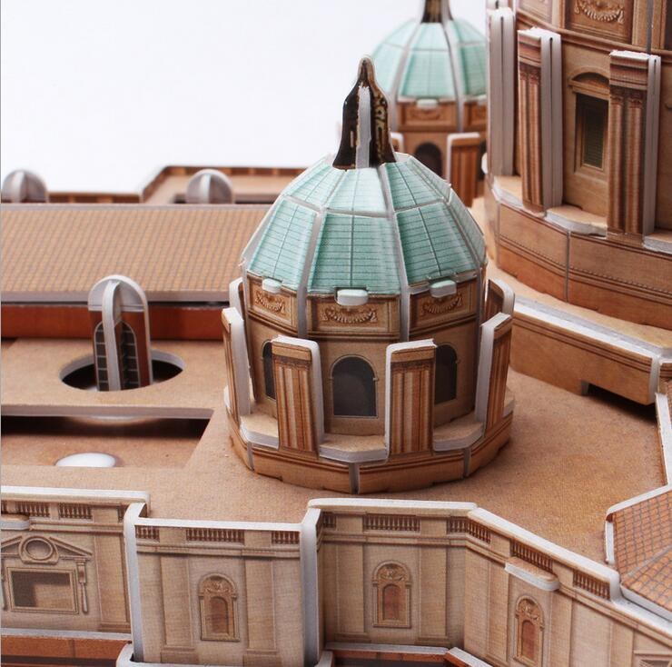 US $29 99 |3D puzzle paper model Children gift DIY toy ST PETER'S BASILICA  Vatican Papal Basilica of Saint Peter hardcover MC092H-in Puzzles from Toys