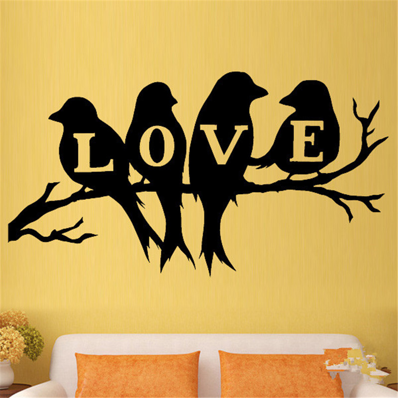 Birds Of Love Tree Of The Vine Rama Family Wall Art Stickers Vinyl ...