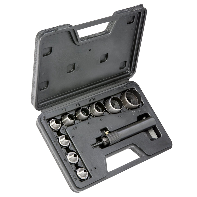 13-in-1 Hollow Punch Set Heavy Duty Gaskets Leather Rubber Hole Case New Large