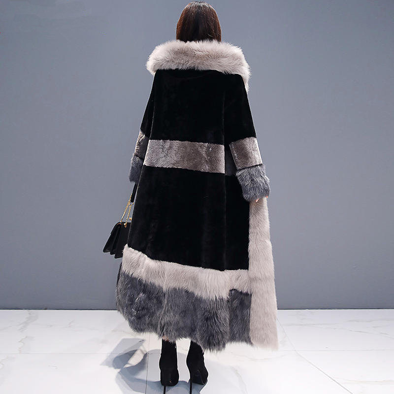 Зимняя куртка женская плюс бархатная теплая Толстая длинная шуба женская элегантная с длинным рукавом плюс размер зимняя куртка Женская Ст... - 6