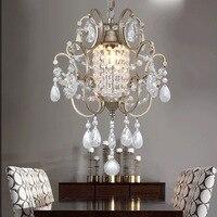 American Rural Nordic French Crystal Pendant Light Corridor Bedroom Entrance Lights Lamps Lighting