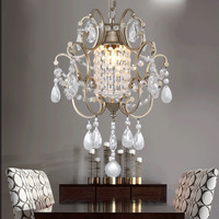 American Rural Nordic French Crystal Pendant Light Corridor Bedroom Entrance Lights Lamps Lighting