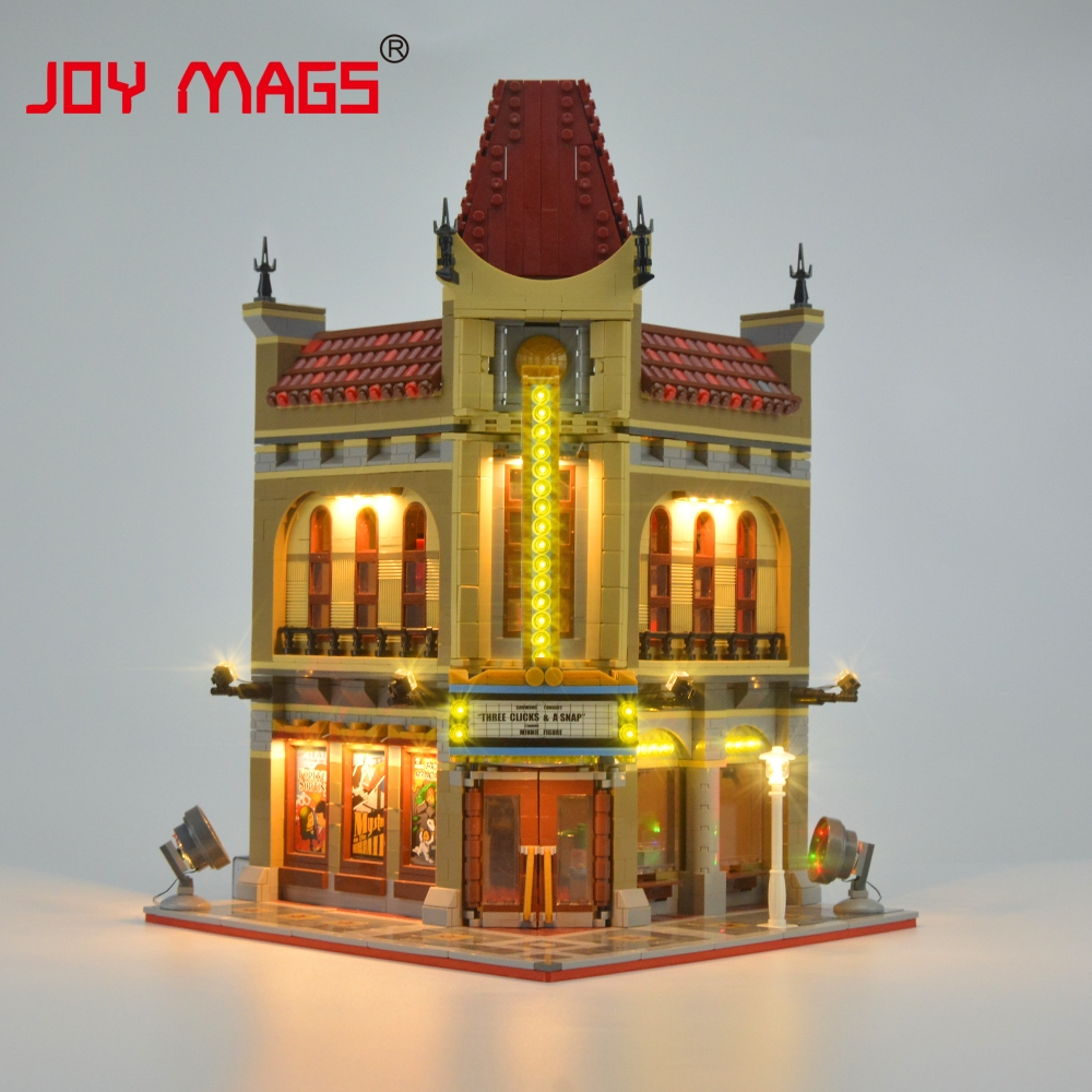 JOY MAGS Led Light Up Kit para Creator Palace Cinema Light Set compatible con 10232 y 15006 (NO incluye el modelo)