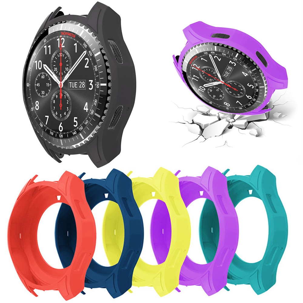 official photos b009a f42ba US $2.03 25% OFF|Silicone Wearable Protective Case Housing Frame Waterproof  For Samsung Gear S3 Frontier Sport Watch Replacement Soft Cover Shell-in ...