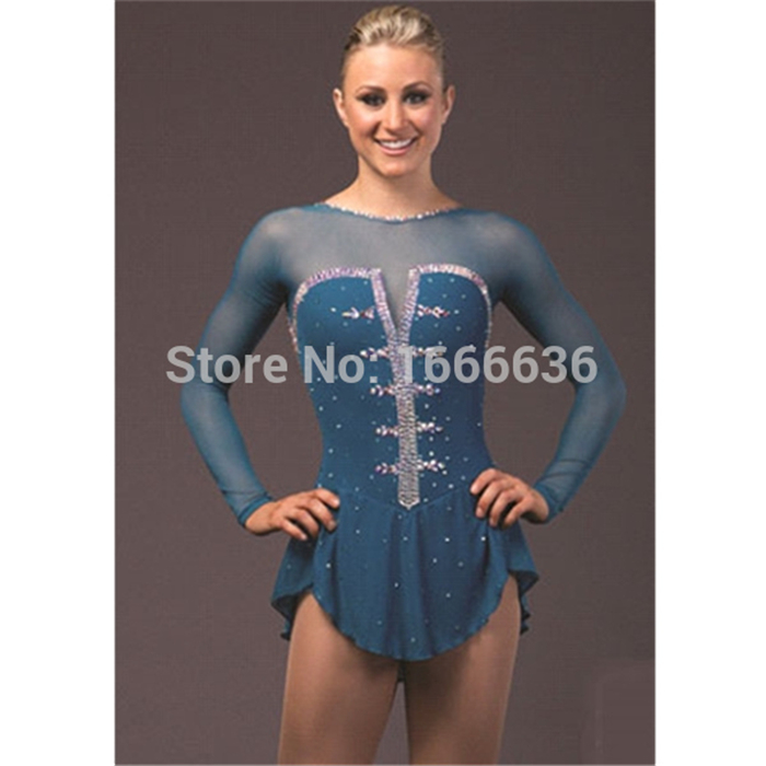 Custom Adult Figure Skating Dresses For Women Graceful New Brand  Ice Skating Competition Dresses DR3949