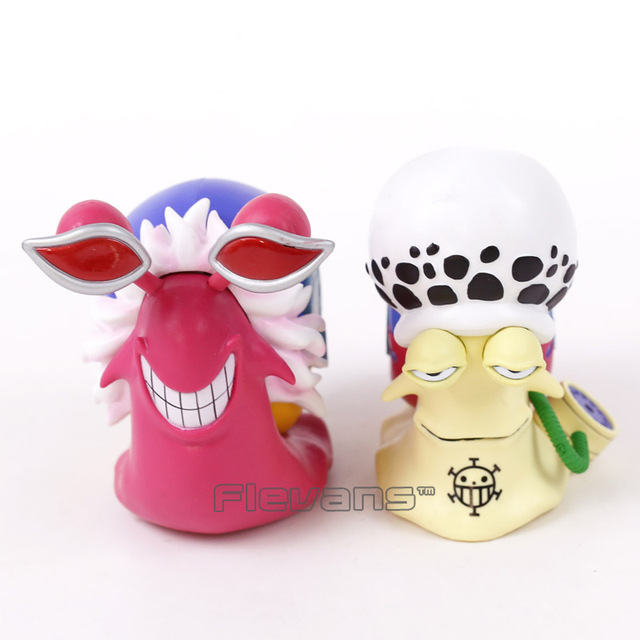 Anime One Piece 2pcs/set Trafalgar Law Doflamingo Den Den Mushi Telephone PVC Figures Collectible Model Toy