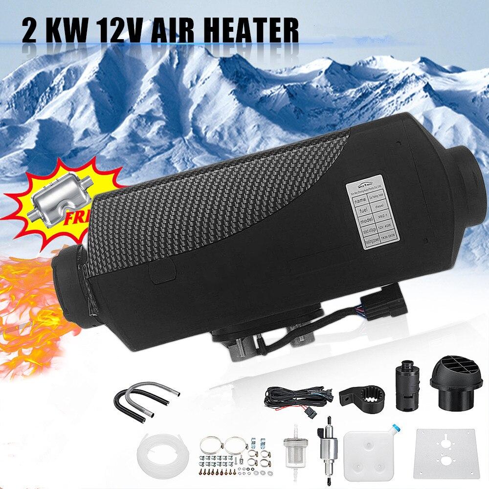 Поворотный/цифровой переключатель одно отверстие черный нагреватель воздуха для автомобиля 12 В в 2 кВт воздуха Дизели нагреватель стояночн