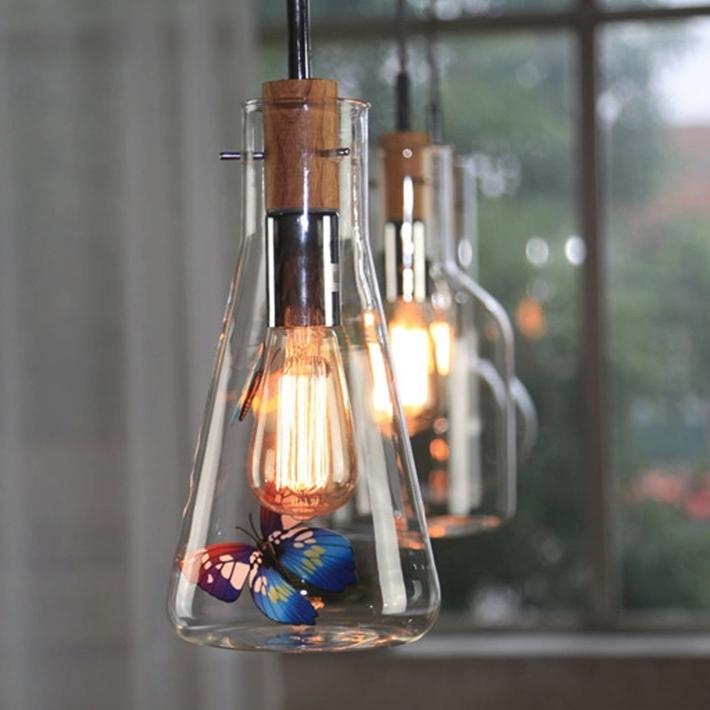 1 pcs ModernIron+Wood+Glass Chandelier living Room lustres cristal Decoration Pendants and Chandeliers Home Lighting Indoor Lamp modern water plant chandelier creative wood glass lustres living room cafe clothing store decorative chandeliers lamparas de tec