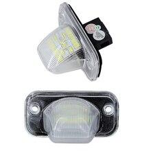 2x ошибок 18 SMD номер пластины лампы для VW Passat B5 B6 светодио дный лицензии пластины для VW транспортер T4 Passat 1990-2003