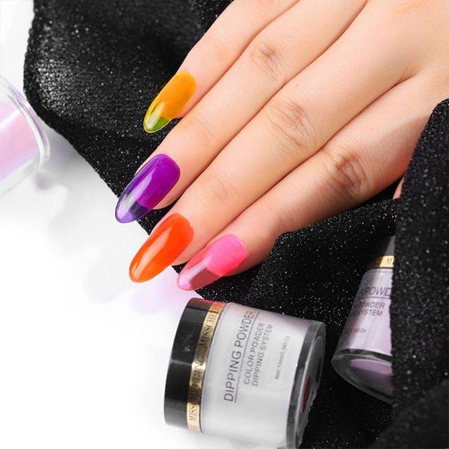 0 ml de inmersión de polvos de gradiente de Color Natural brillo holográfico de uñas de infiltración en polvo de vidrio acrílico de manicura