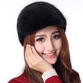 Sombreros para las mujeres 2017 snapback sombrero de piel de visón natural de las mujeres tapas de invierno genuina piel de visón negro de piel de visón marrón