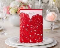 Wedding Invitations Laser Cutting Invitation Card for Wedding Gold Paper Hollow Birthday Invitation