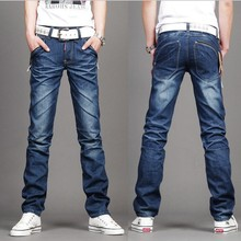 2016 China Brand Big Size 27-38 2015 New Men Jeans Slim Men's Clothing Casual Denim Jeans Men Regular Printed Jeans A2882