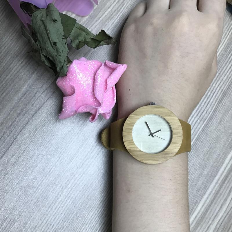 SIHAIXIN Bamboo Wood Watches Menn Fashion Quartz Armbåndsur Leather - Herreklokker - Bilde 6