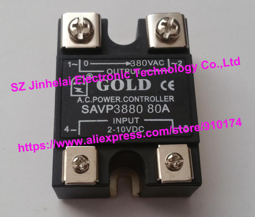 New and original SAVP3880  GOLD Single-phase ac solid state relay  380VAC  80A  2-10VDC OR 4-20mA saimi controlled skd53 12 53a 1200v new original single phase rectifying bridge modules