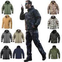Winter Warme Wasserdichte Jacke Männer Regen Fleece Softshell Set Camouflage Jagd Kleidung Trekking Hosen Wandern Angeln Klettern Frauen