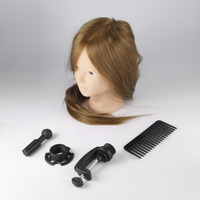 1 Set 26 Inch Brown Training Mannequin Head Hairdressers Dummy Hairstyles Long Hair Dolls Heads Mannequin