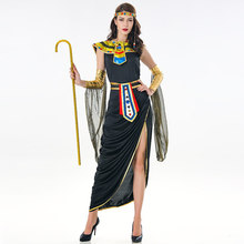 Halloween Deluxe Sexy Cleopatra Costume Masquerade Party Ancient Egypt Queen Long Dress Outfit(China)