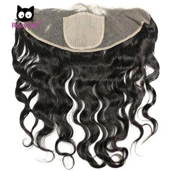 RucyCat 13*4 шелковая основа, Фронтальная Закрытие, бразильские натуральные волосы, волнистые человеческие волосы для наращивания