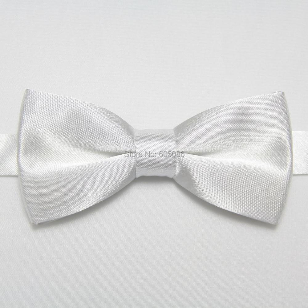 HOOYI 2019 Solid White Boy's Bowtie For Children Party Butterflies Kids' Necktie 28colors