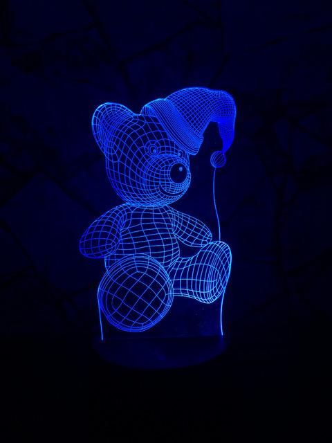 HOT!! 3D LED Hologram – Nočné svetlo – Christmas Bear