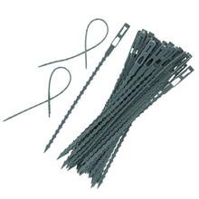 50 шт./лот, садовый помощник, многофункциональные Многоразовые стяжки для альпинизма, легко гибкие пластиковые кабельные стяжки для растений, промотировщик растений