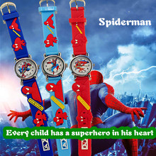 Hot Sale Spiderman Watch Girls Boys Children Watch Kids Watches Rubber Child Quartz Wristwatches Gift Hour reloj montre relogio