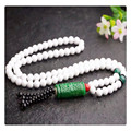 Women sweater necklace natural white tridacna stone parts green Barrel beads jewelry for women beaty