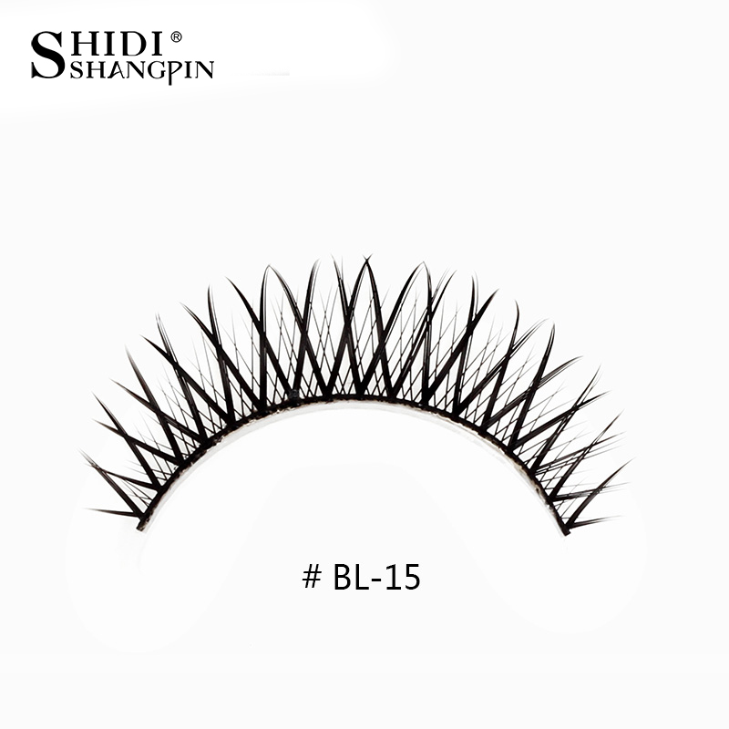 new products L15 fake eyelashes extension thick eye lash super natural and long false eyelashes for halloween make up eyelashes