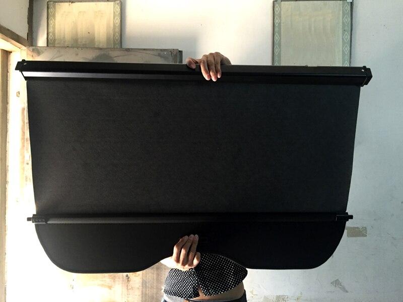 Ajustement pour Nissan Qashqai J11 2014 2015 2016 extérieur noir accessoires rétractable couverture de cargaison arrière coffre sécurité ombre 1 ensemble