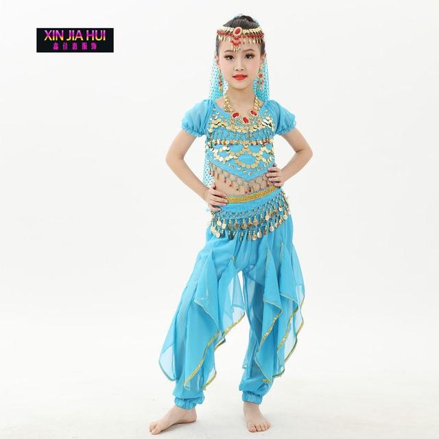 ecc2f549ef8d Qualità Indiano Sari Ragazze Si Vestono Orientale Enfant Costumi Indiani Per  I Bambini Set Vestiti di